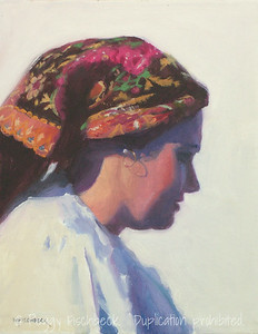 Portuguese Dancer, Portrait - 11x14, oil on canvas panel  C0308