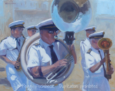 Festa Band - 16x20, oil on canvas  C0380