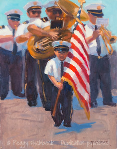 The Flag Bearer, 11x14, oil on canvas, F0529