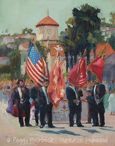 St Agnes Festa do Espirito Santo, 11x14, oil linen panel  F0542