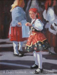 Portuguese Dancer, 11x14, oil panel  C0341