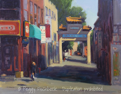Chinatown, Montreal, 11x14, oil on canvas