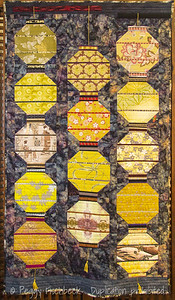 Hanging Lanterns, 32x57 quilted fabric by Karen Cunagin  (www.karencunagin.com)