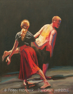 "Cabaret Dances 2010, ""When Strangers Meet"" - V,  16x20,  Oil on canvas panel -- SOLD"