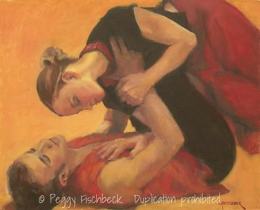 "Cabaret Dances 2010, ""When Strangers Meet"" - II,  16x20,  Oil on canvas panel"