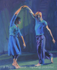 """Rhapsody in Blue"" - IV,  16x20,  Oil on canvas panel"