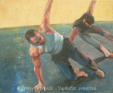 """Cabaret Dances 2010, """"Tales from a Marriage""""  16x20,  Oil on canvas panel"""