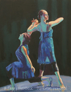 "Jean Isaacs San Diego Dance Theater ""Rhapsody in Blue"" - III,  16x20,  Oil on canvas panel"