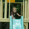 First time down a slide.