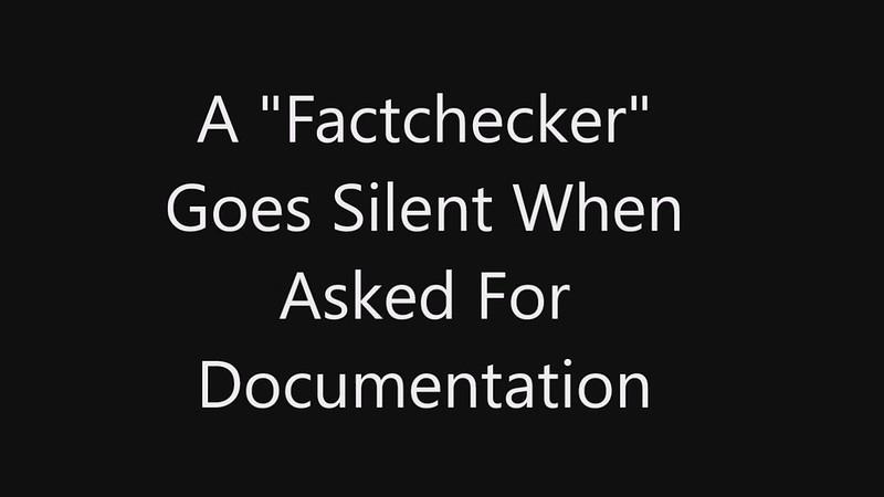 """""""Factchecker"""" Goes Silent"""