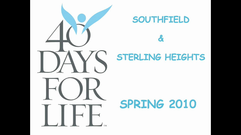 40 Days for Life opening event video in Michigan