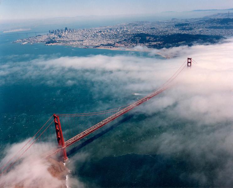 Shot on 8-5-1996 GG Bridge with fog