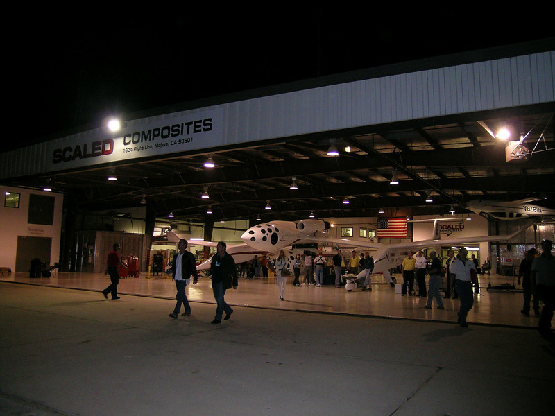 Scaled Composites Hangar in Mojave, California
