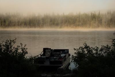 Morning mist on Lake Alva.