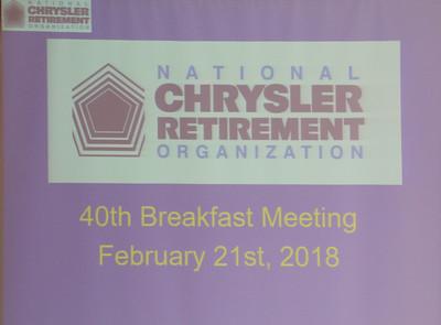 40th Breakfast Meeting  February 21, 2018