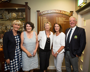 Daughters of the Club's Founder, Christie Cooney (Angela, Bernie & Patricia) with Tina & Peter