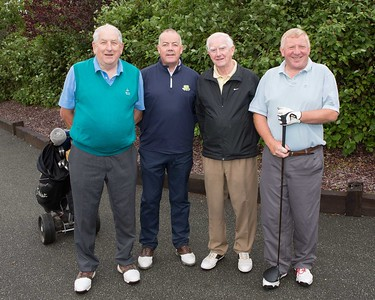 Tim O' Sullivan, Denis O'Mahony, Hugh O'Brien, and Liam Fitzpatrick winners of the 40th Anniversary Founders Day Golf Competition at Blainroe Golf Club.
