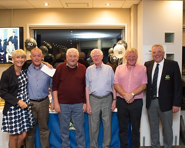 Winners of the 40th Anniversary Golf Classic with Tina and Peter are Denis O'Mahony, Tim O'Sullivan, Hugh O'Brien and Liam Fitzpatrick