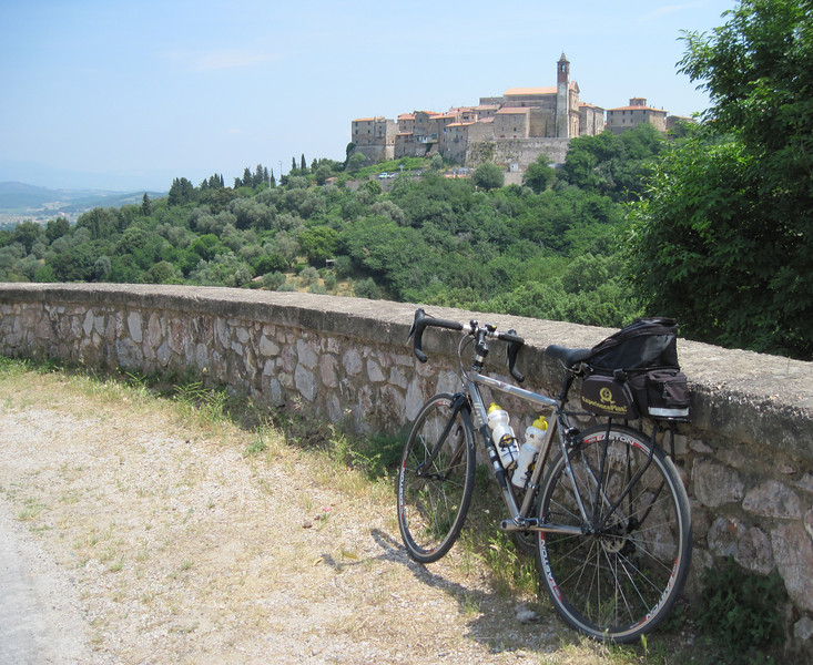 Tuscan Village, Italy Two of us chose the high road through Tuscany on the 21st day of our 2011 ExpeditionPlus! ride across Italy.   In exchange for fatigue and sore muscles, we got enchanting hilltop views.