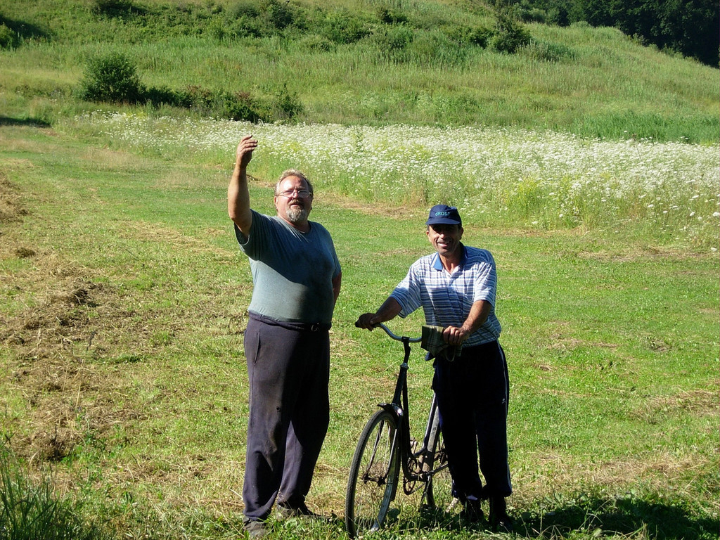 Cycling through Romania, I stopped to chat with two local men of German heritage and learned the history of the German population in Romania.