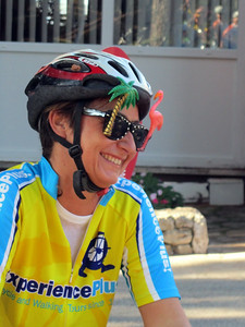Sara's glasses provide an indication of her sunny disposition that made the tour so enjoyable