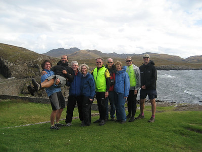 Near Ardnamurchan Lighthouse, Scottish Highlands We had just toasted the completion of our coast to coast ride in Scotland and were feeling very celebratory!
