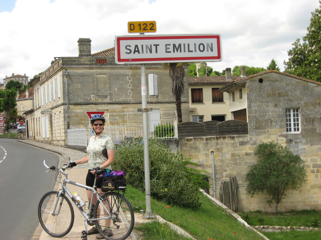 St. Emilion, France The smile says it all! We have arrived at our destination after 10 days of riding the Dordogne Valley, enjoying all the hills and valleys and great eating along the way!