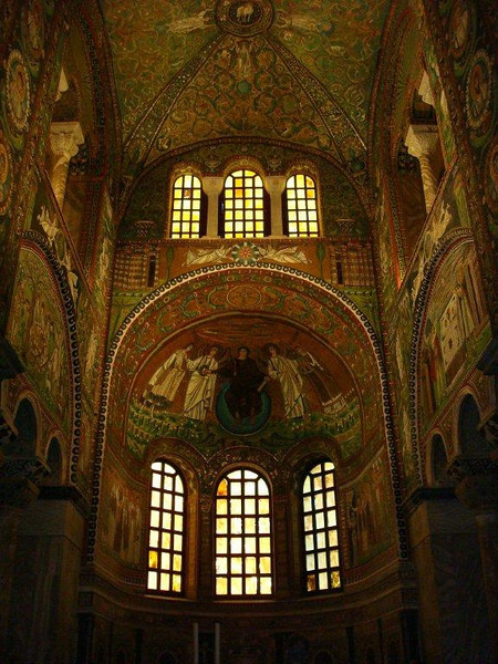 Mosaics Church of Ravenna -- When I walked into this church I could not believe what I was seeing.. Absolutely amazing, how was this all done with little pieces of tile? So Beautiful!! Took my breath away!