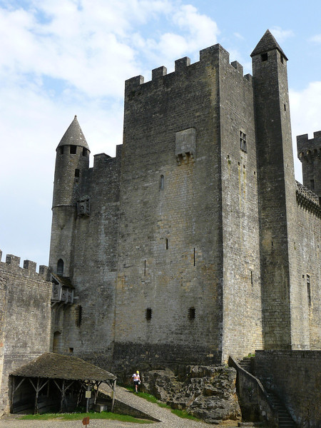 Beynac Castle is on the Dordogne River fortress used in the 100 year war between the English and French