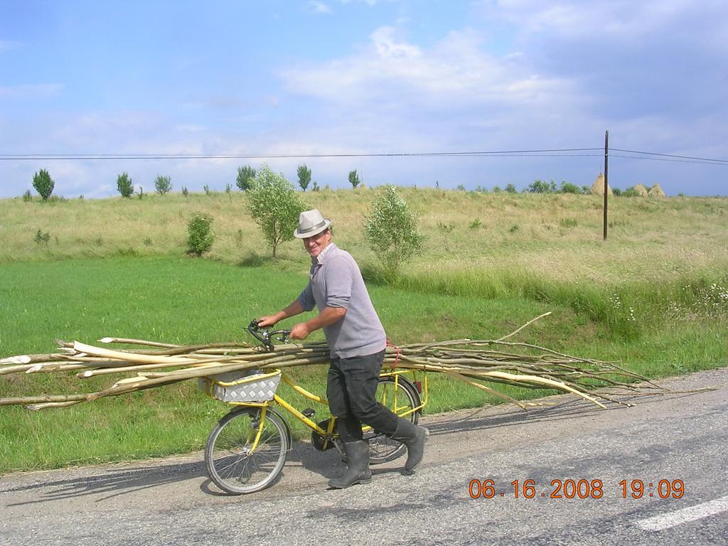 Local cyclist in Romania