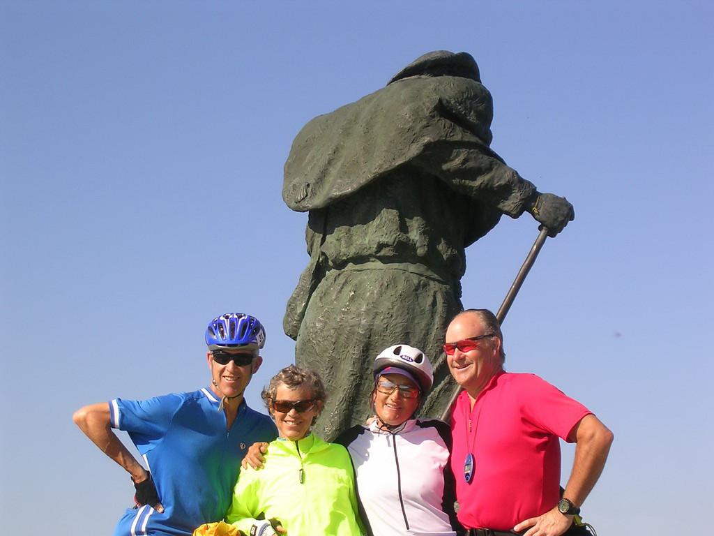 Four siblings on the Camino de Santiago trip, Spain