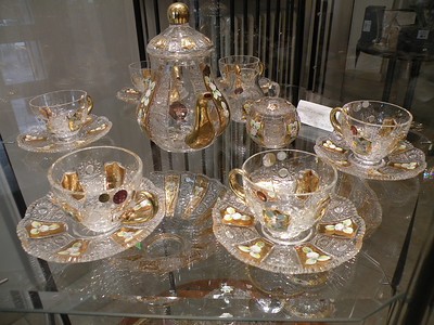 And where else would you want to shop for hand cut Bohemian crystal but in Slovakia. This complete set with fused gold leaf inlay could be had for around 200 Euros and is only an example of the bargains that could be had in this shop in Bratislava. Load up the SAG wagon!