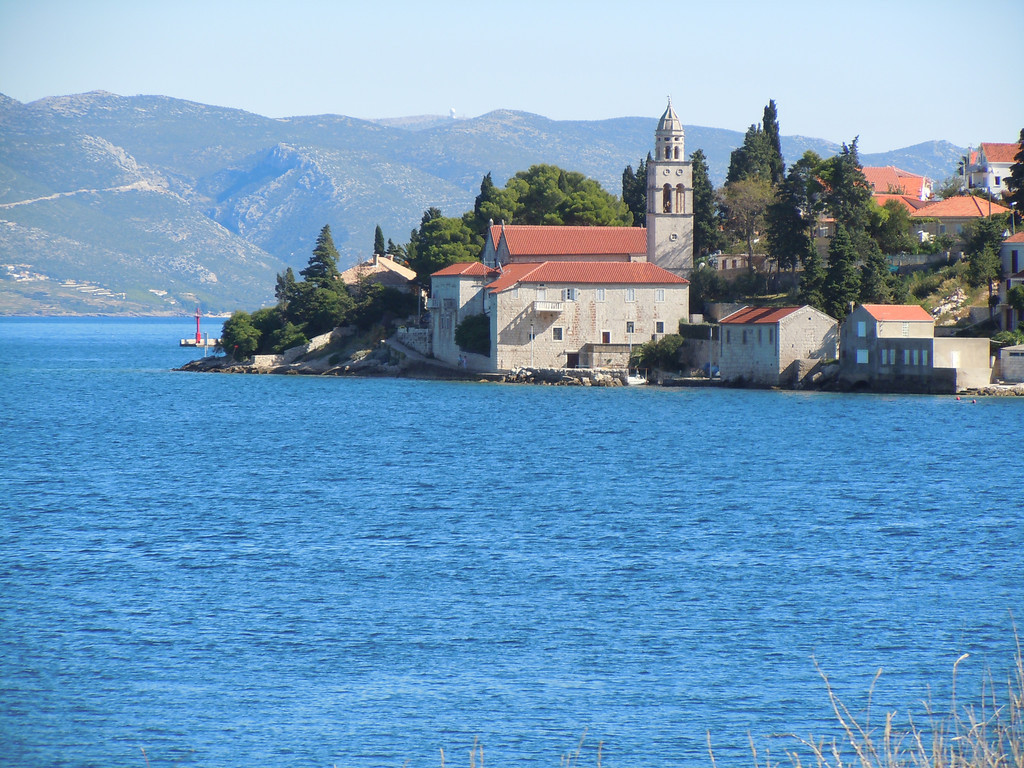 Cycling on the island of Korcula Croatia, amazing scenery and really blue water.