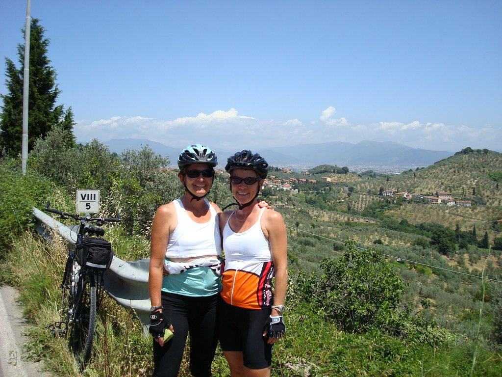 This is a picture of Jill Robinson and me, I believe it was on our way to Pisa.  My Grappa buddy!!!
