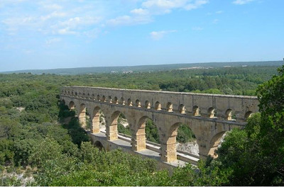 Often on the Bicycling through the Best of Provence tour we had the opportunity to study Roman ruins, and the Pont du Gard was the most impressive one we saw.  The path we followed on this day took us to this site and to Tarascon where we toured a 15th century castle.