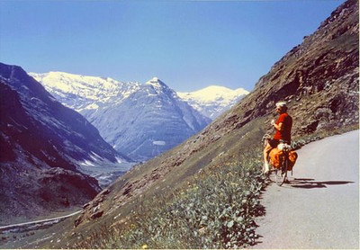 Cycling the Col de Vars in the Alps, France