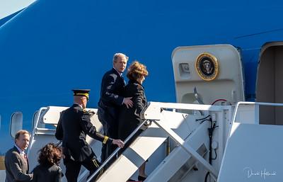 President Bush led the boarding for Washington DC