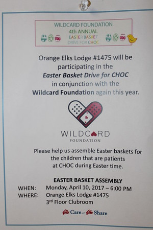 4/10/2017 Easter Baskets By Elks WILDCARD Army