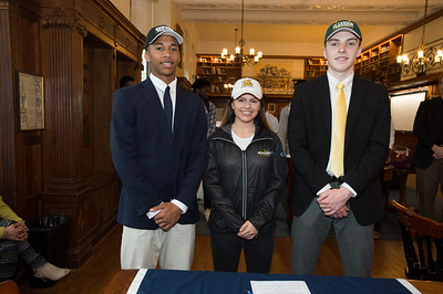 Basketball players sign Letters of Intent