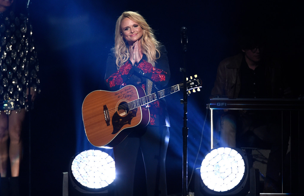 ". Miranda Lambert performs ""Keeper of the Flame\"" at the 53rd annual Academy of Country Music Awards at the MGM Grand Garden Arena on Sunday, April 15, 2018, in Las Vegas. (Photo by Chris Pizzello/Invision/AP)"