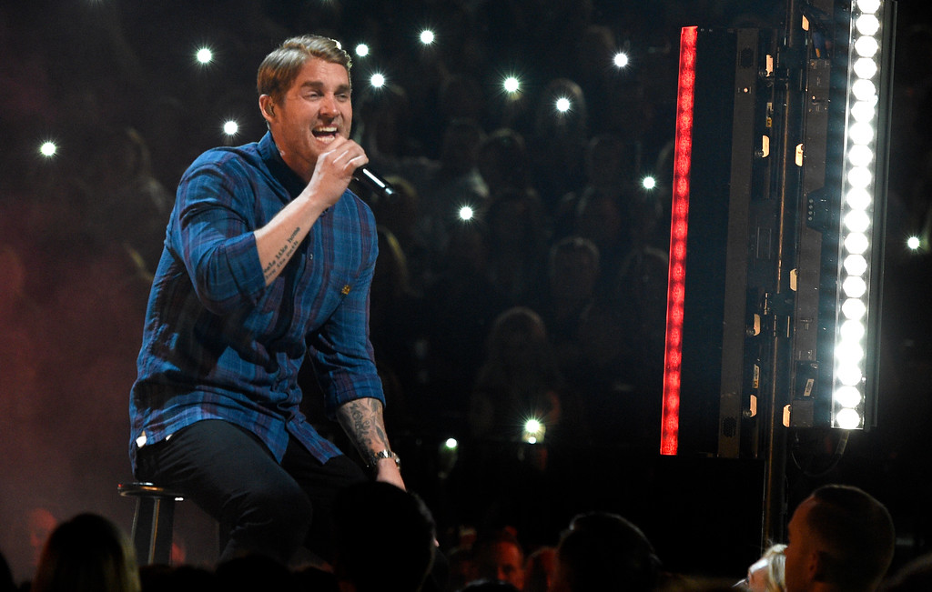 ". Brett Young performs ""In Case You Didn\'t Know\"" at the 53rd annual Academy of Country Music Awards at the MGM Grand Garden Arena on Sunday, April 15, 2018, in Las Vegas. (Photo by Chris Pizzello/Invision/AP)"