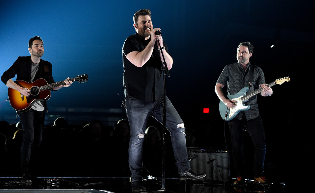 ". Chris Young performs ""Losing Sleep\"" at the 53rd annual Academy of Country Music Awards at the MGM Grand Garden Arena on Sunday, April 15, 2018, in Las Vegas. (Photo by Chris Pizzello/Invision/AP)"