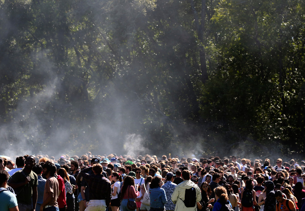 . Annual 420 celebration at the Porter Meadow at UC Santa Cruz on Friday April 20, 2018. (Shmuel Thaler -- Santa Cruz Sentinel)