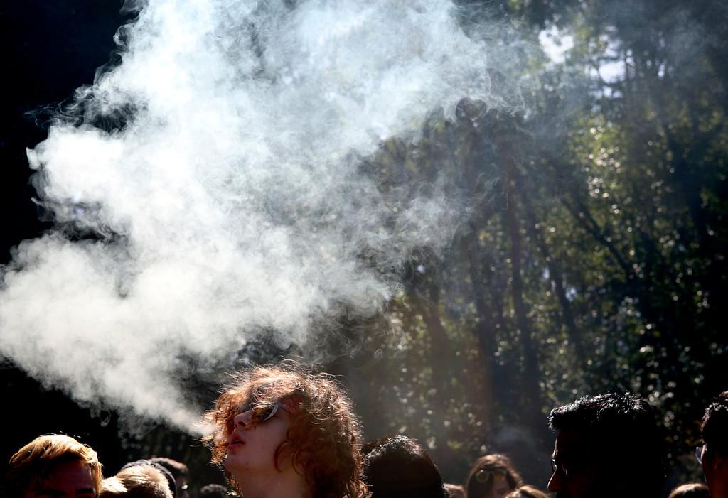 . Annual 420 celebration at the Porter Meadow at UC Santa Cruz on Friday April 20, 2018. (Shmuel Thaler -- Santa Cruz Sentinel)