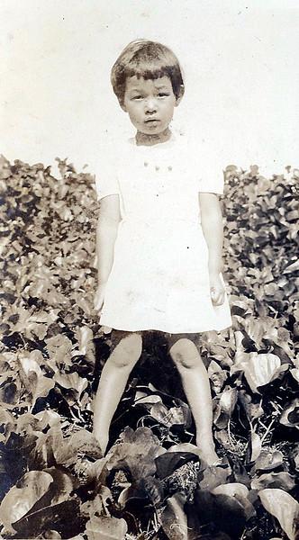Fumiko Teraoka Standing in a Patch