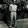 Title: Anzai. F Company, 442nd RCT. Waipio, Hawaii.<br /> <br /> Date: 1943<br /> <br /> Notes from Seiji: Oshiro neighbor. Backyard of house. Was in F company infantry. Went to get water for boys & was killed by friendly fire because he didn't know password. Every day was new password. Died in 2nd day of combat in Italy.  His brother was Hagimi Anzai with 532(?) engineers.<br /> <br /> Photo courtesy of Seiji Oshiro. Copyright retained by the Estate of Seiji Oshiro.