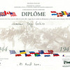 Title: Diplome<br /> <br /> Date: 23 April 2001<br /> <br /> Subject: Liberation of Normandy recognition from French govt 1944-1945<br /> <br /> Photo courtesy of Seiji Oshiro. Copyright retained by the Estate of Seiji Oshiro.