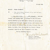 Title: Letter awarding Bronze Arrowhead to Seiji Oshiro for participation in the Invasion of Southern France on 15 August 1944<br /> <br /> Description: Participation Invasion Southern France on D-Day 1944. 15 August 1944<br /> <br /> Date: 22 July 1945<br /> <br /> Photo courtesy of Seiji Oshiro. Copyright retained by the Estate of Seiji Oshiro.