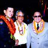 Title: 442nd RCT 50th Anniversary Banquet. l-r: General Eric Shinseki, Seiji Oshiro, Senator Dan Inouye<br /> <br /> Date: 1995<br /> <br /> Location: Hawaii<br /> <br /> Notes from Seiji:442 50th banquet<br /> <br /> Photo courtesy of Seiji Oshiro. Copyright retained by the Estate of Seiji Oshiro.