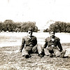 """Title: On Furlough. Jimmy and """"Flash"""" Fujiki<br /> Inscription: Washington, D.C. - 1943<br /> <br /> Date: 1943<br /> <br /> Location: Washington DC<br /> <br /> Notes from Seiji: Oshiro took picture<br /> <br /> Photo courtesy of Seiji Oshiro. Copyright retained by the Estate of Seiji Oshiro."""
